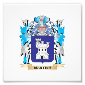 Escudo de armas de Martine - escudo de la familia Fotografias
