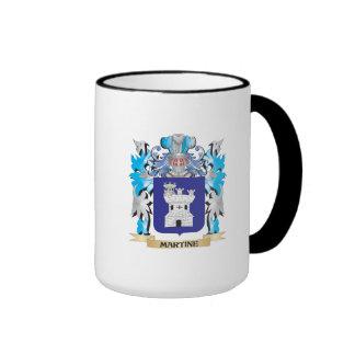 Escudo de armas de Martine - escudo de la familia Tazas De Café