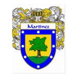 Escudo de armas de Martínez (cubierto) Postales