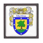 Escudo de armas de Martínez/escudo de la familia Caja De Joyas De Calidad