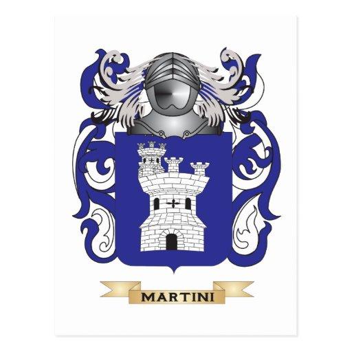 Escudo de armas de Martini (escudo de la familia) Postal