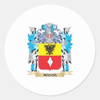 Escudo de armas de Massa - escudo de la familia Pegatinas Redondas