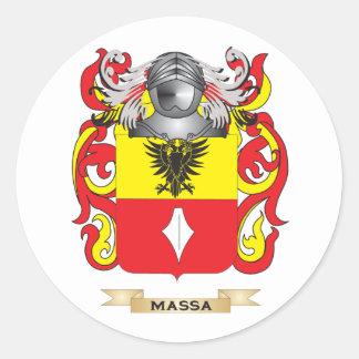 Escudo de armas de Massa (escudo de la familia) Etiquetas Redondas