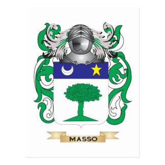 Escudo de armas de Masso (escudo de la familia) Postales
