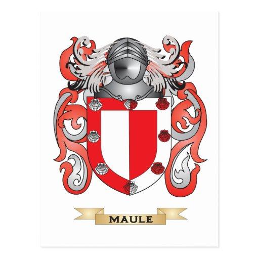 Escudo de armas de Maule (escudo de la familia) Tarjeta Postal