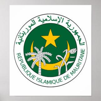 Escudo de armas de Mauritania Poster