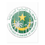 Escudo de armas de Mauritania Tarjetas Postales