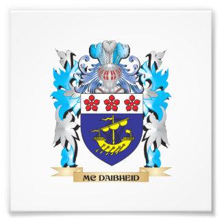 Escudo de armas de Mc-Daibheid - escudo de la Fotografía