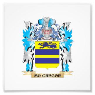 Escudo de armas de Mc-Gregor - escudo de la Fotografía