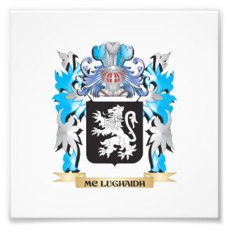 Escudo de armas de Mc-Lughaidh - escudo de la Impresiones Fotograficas