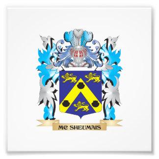 Escudo de armas de Mc-Sheumais - escudo de la Impresión Fotográfica