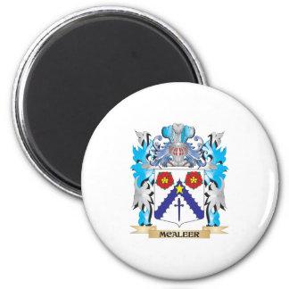 Escudo de armas de Mcaleer - escudo de la familia Imán Redondo 5 Cm