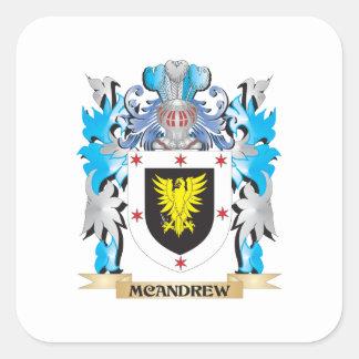 Escudo de armas de Mcandrew - escudo de la familia Calcomanía Cuadradas Personalizada