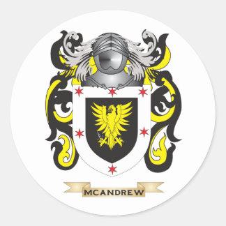 Escudo de armas de McAndrew (escudo de la familia) Pegatinas Redondas