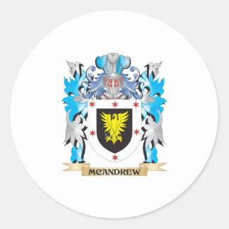 Escudo de armas de Mcandrew - escudo de la familia Etiquetas Redondas