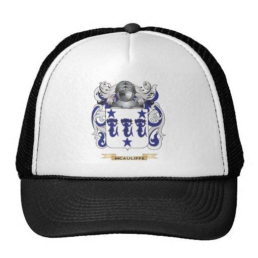 Escudo de armas de McAuliffe (escudo de la familia Gorros Bordados
