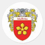 Escudo de armas de McBride (cubierto) Etiquetas Redondas