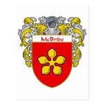 Escudo de armas de McBride (cubierto) Tarjetas Postales