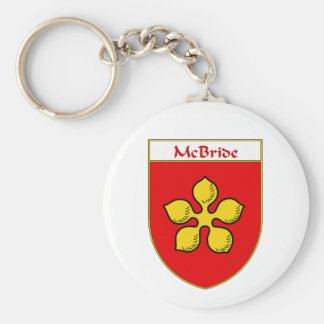 Escudo de armas de McBride/escudo de la familia Llavero Personalizado