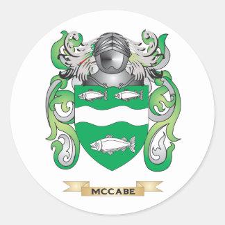 Escudo de armas de McCabe (escudo de la familia) Pegatina Redonda