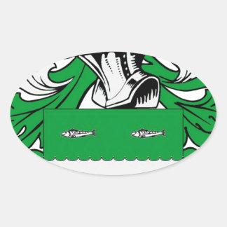 Escudo de armas de McCabe Pegatina Ovalada