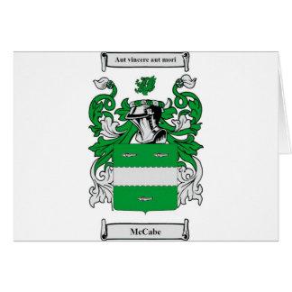 Escudo de armas de McCabe Tarjeta De Felicitación