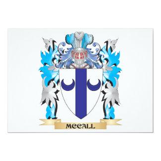 """Escudo de armas de Mccall - escudo de la familia Invitación 5"""" X 7"""""""