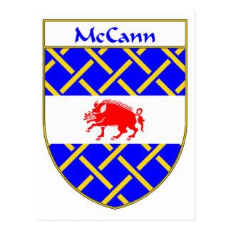 Escudo de armas de McCann/escudo de la familia Postal
