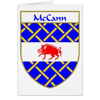 Escudo de armas de McCann/escudo de la familia Tarjeta De Felicitación