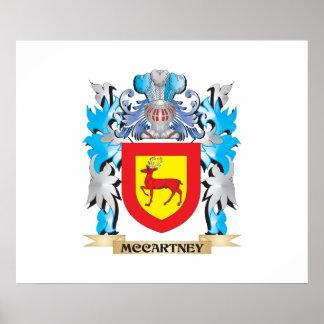 Escudo de armas de McCartney - escudo de la Posters