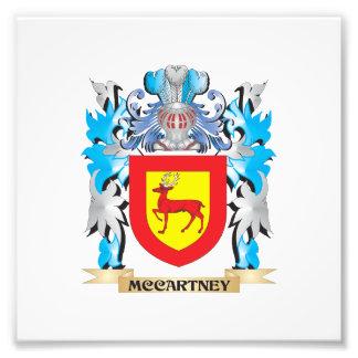 Escudo de armas de McCartney - escudo de la Impresion Fotografica