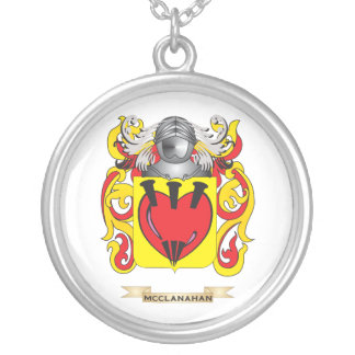 Escudo de armas de McClanahan (escudo de la famili Colgante Redondo