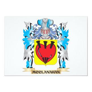 """Escudo de armas de Mcclanahan - escudo de la Invitación 5"""" X 7"""""""