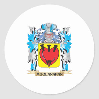 Escudo de armas de Mcclanahan - escudo de la Pegatina Redonda