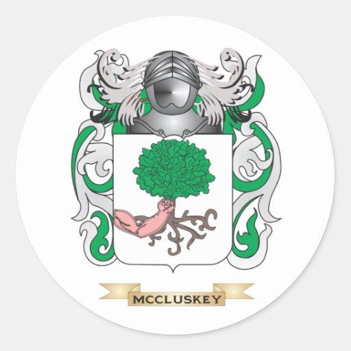 Escudo de armas de McCluskey (escudo de la Etiquetas Redondas