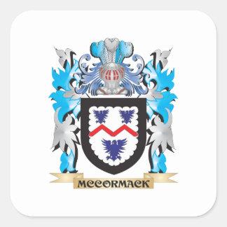 Escudo de armas de Mccormack - escudo de la Pegatina Cuadrada