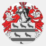 Escudo de armas de McCoy Pegatina Redonda