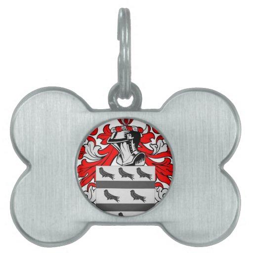 Escudo de armas de McCoy Placas Mascota
