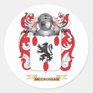 Escudo de armas de McCrossan (escudo de la Pegatina Redonda