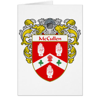 Escudo de armas de McCullen (cubierto) Tarjeta De Felicitación