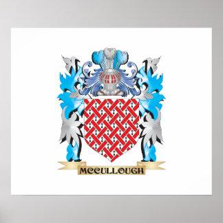 Escudo de armas de Mccullough - escudo de la Poster