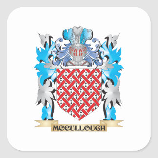 Escudo de armas de Mccullough - escudo de la Pegatina Cuadradas Personalizadas
