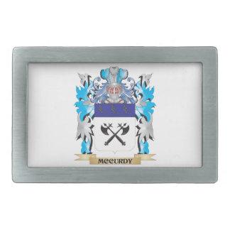 Escudo de armas de Mccurdy - escudo de la familia Hebilla De Cinturon Rectangular