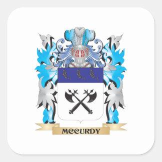 Escudo de armas de Mccurdy - escudo de la familia Colcomanias Cuadradas