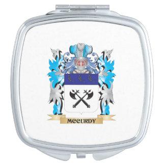 Escudo de armas de Mccurdy - escudo de la familia Espejos De Viaje