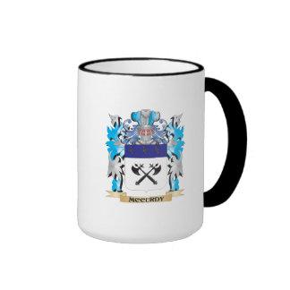 Escudo de armas de Mccurdy - escudo de la familia Taza De Café