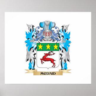 Escudo de armas de Mcdaid - escudo de la familia Póster