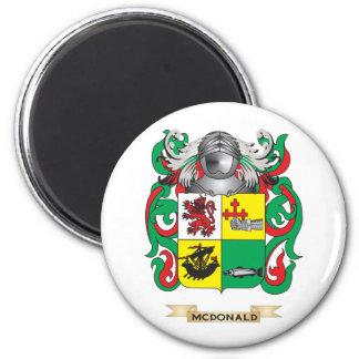 Escudo de armas de McDonald (pizarra) (escudo de l Imán Redondo 5 Cm