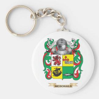 Escudo de armas de McDonald (pizarra) (escudo de l Llavero Redondo Tipo Pin