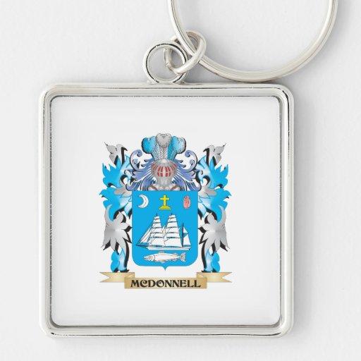 Escudo de armas de McDonnell - escudo de la Llaveros Personalizados